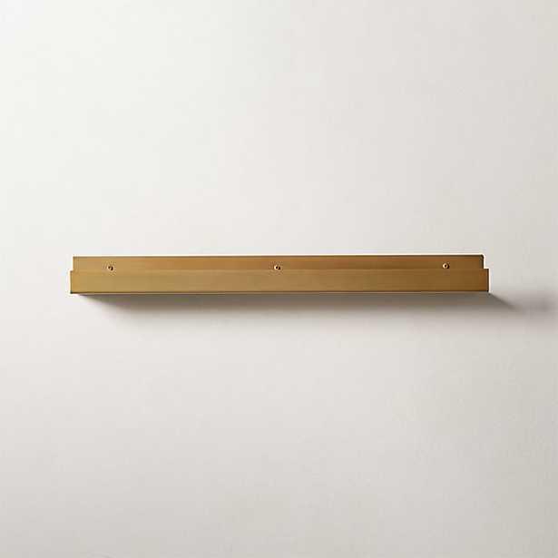 "Metal Gold Wall Shelf 24"" - CB2"