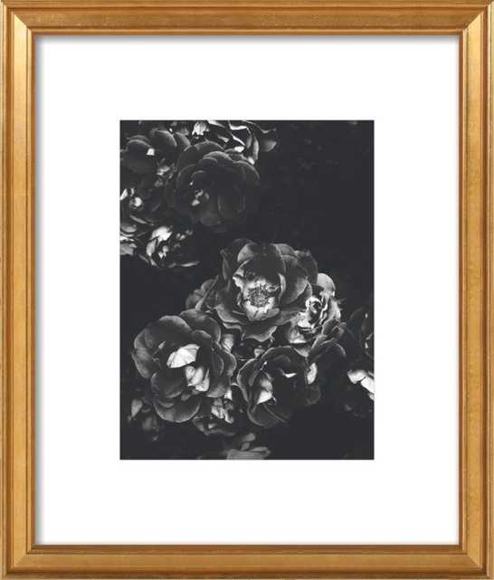 """August 2013 - 17x20"""" - Distressed Cream Double Bead Wood Frame with Matte - Artfully Walls"""