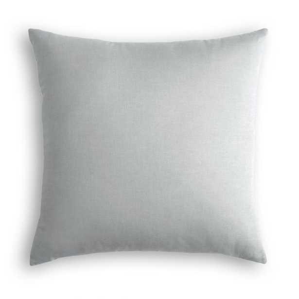 Gray Classic Linen Throw Pillow - Linen & Seam