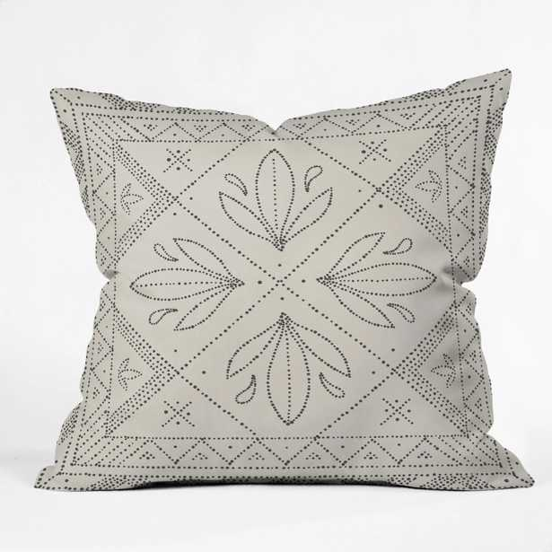 OUTDOOR THROW PILLOW JANELLE CREAM  BY IVETA ABOLINA - Wander Print Co.