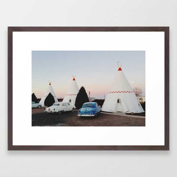 Wigwam Motel Framed Art Print - Society6