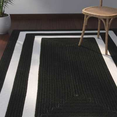 Marti Hand-Woven Indoor/Outdoor Black Area Rug - Wayfair