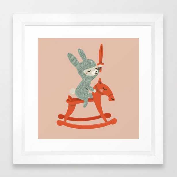 Rabbit Knight Framed Art Print - Society6