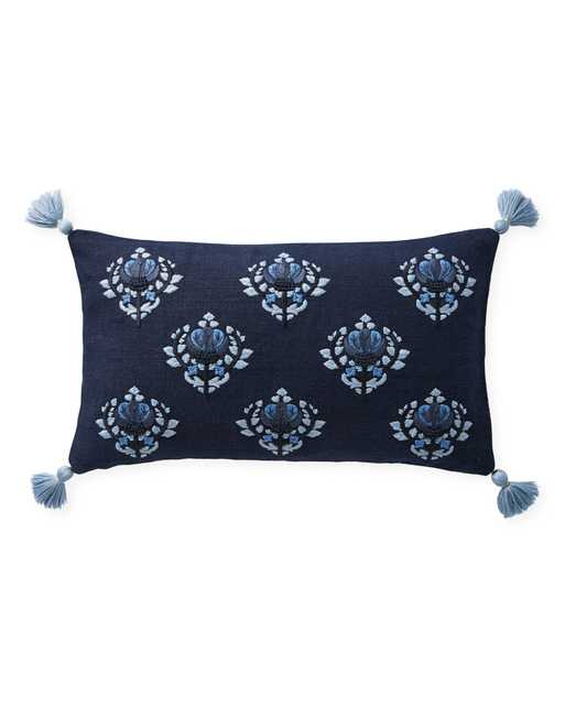 """Kemp 12"""" x 21"""" Pillow Cover - Navy - Insert sold separately - Serena and Lily"""