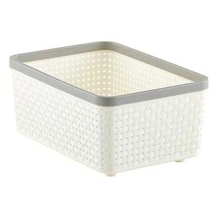Small Cottage Woven Bin Ivory - containerstore.com