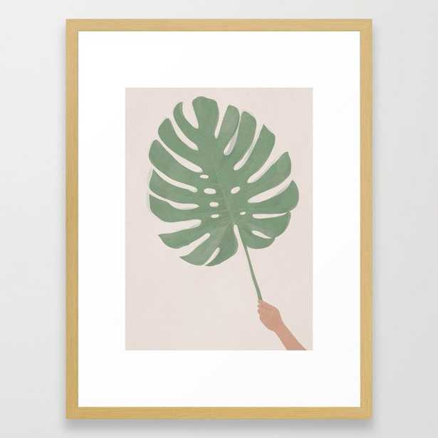 Monstera Leaf Framed Art Print - Society6