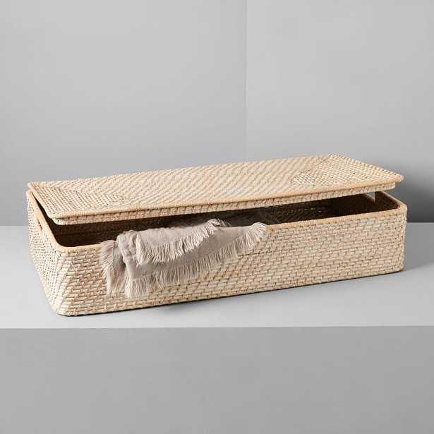 Modern Weave Underbed Storage Basket, Whitewashed - West Elm