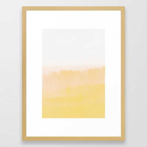 Pleasantly Optimistic Framed Art Print by Georgiana Paraschiv - Conservation Natural - MEDIUM (Gallery)-20x26 - Society6