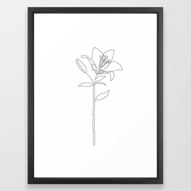 Fill Lily Framed Art Print - Society6