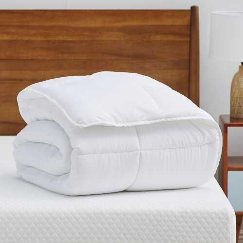 Midweight Down Alternative Comforter- white queen - Wayfair
