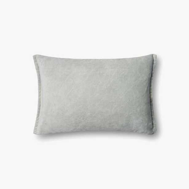 """PILLOWS - SEAFOAM GREEN - 13"""" X 21"""" Cover w/ Poly fill - Loma Threads"""