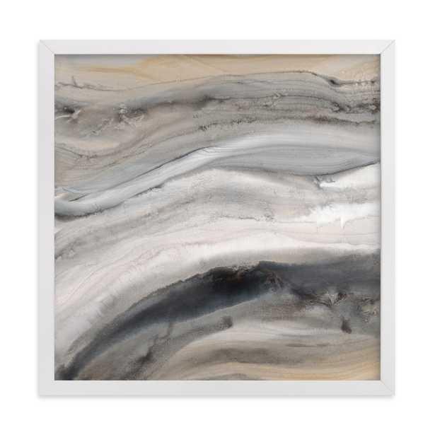 Warm Gold I - 11x11 - white wood frame - Minted