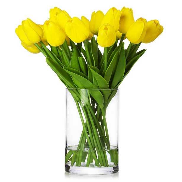 Real Touch Flower Tulips Centerpiece in Vase - Wayfair