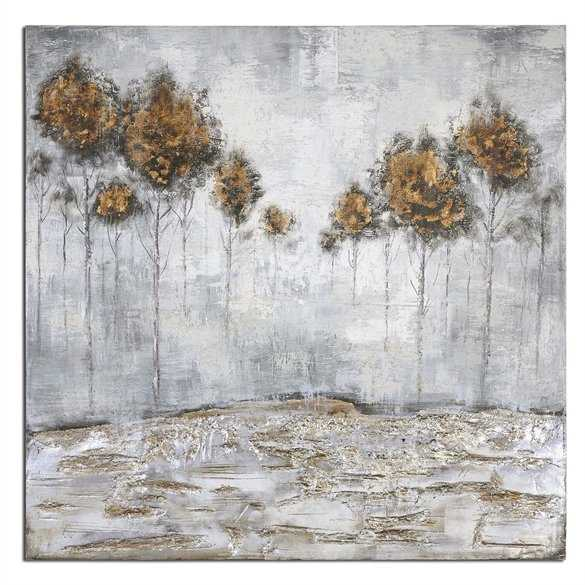 Iced Trees Hand Painted Canvas - Hudsonhill Foundry