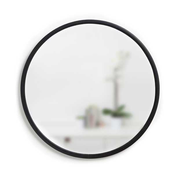 "37'' x 37'' Black Hub 37"" Modern and Contemporary Accent Mirror - Wayfair"