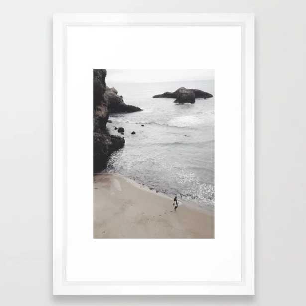 """Soul Surfer Framed Art Print; Vector White - Small 15"""" x 21"""" - Society6"""