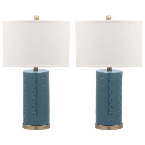 "Elroy 26"" Table Lamp - Navy - AllModern"