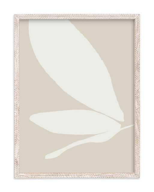"Urban garden I - 18"" x 24"" - Whitewashed Herringbone - Vanilla - Standard - Minted"