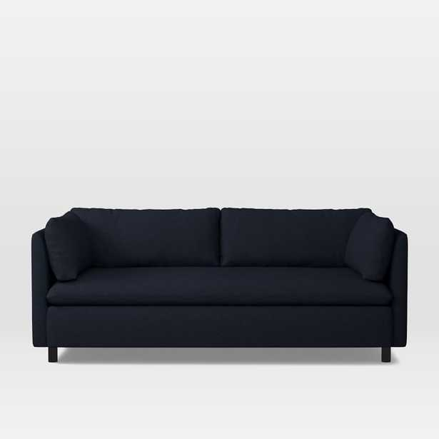 Shelter Queen Sleeper Sofa - Twill Black Indigo - West Elm