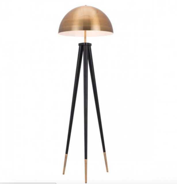 Mascot Floor Lamp Brass & Black - Zuri Studios