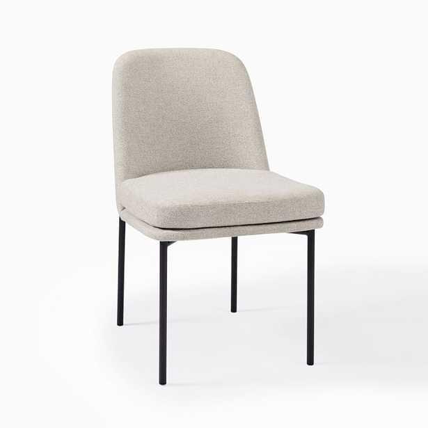 Jack Metal Frame Dining Chair (Set of 2) - Dove Chenille Tweed / Antique Bronze - West Elm