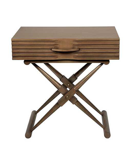 ZANE SIDE TABLE, SADDLE BROWN - McGee & Co.