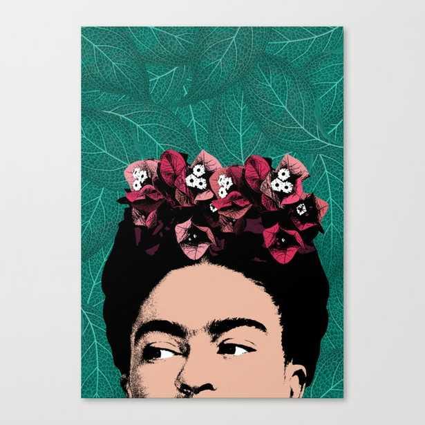 Floral Frida Canvas Print - Society6