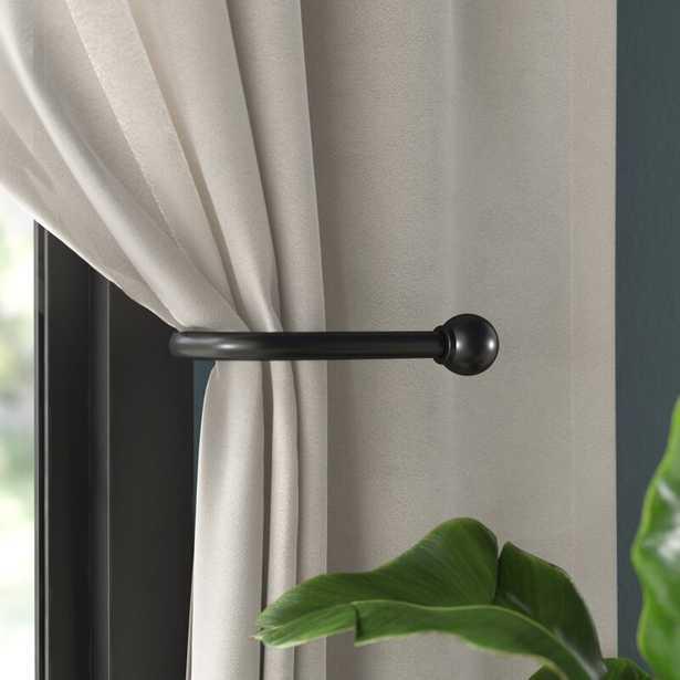 Whyalla Matte Black Drapery Curtain Holdback - Wayfair