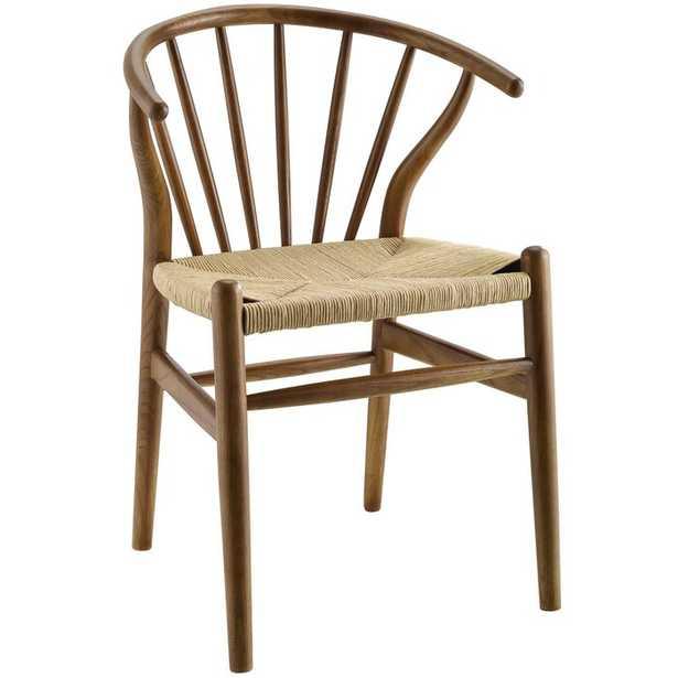Weedman Spindle Wood Dining Side Chair Walnut - Wayfair