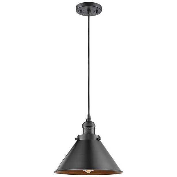"""Briarcliff 10"""" Wide Oil-Rubbed Bronze Mini Pendant - Lamps Plus"""