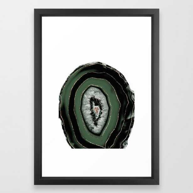 Green Black Agate with Gold Glitter #1 #gem #decor #art #society6 Art Framed Art Print - Society6