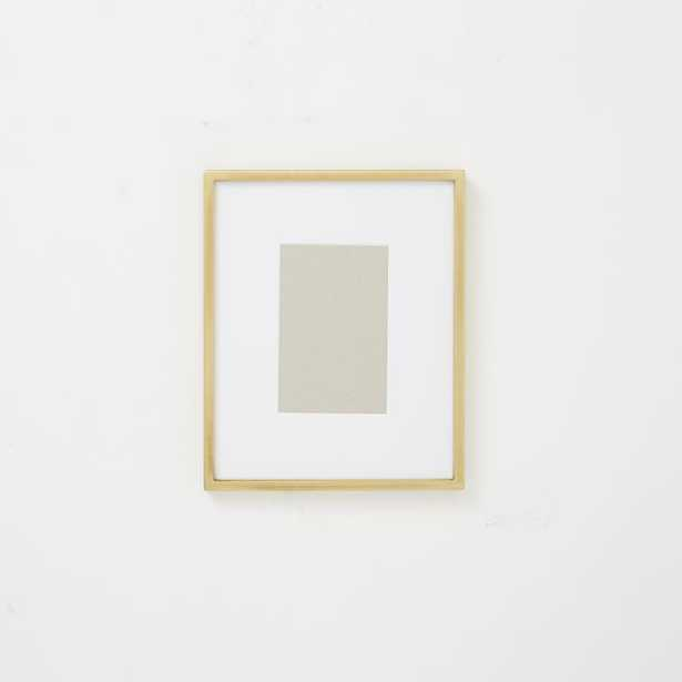 """Metal Tabletop Frame -Brass -4"""" x 6"""" (8"""" x 10"""" without mat) - West Elm"""