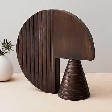 Diego Olivero Wood Decorative Object, Circle - West Elm