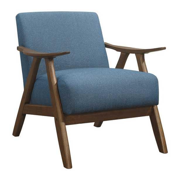 Hofstetter Fabric Accent Armchair_Blue - Wayfair