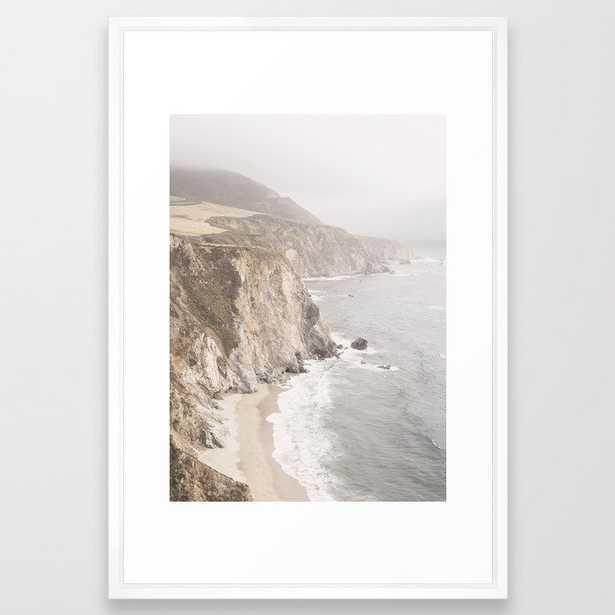"Big Sur California Framed Art Print - Vector White 26""x38"" - Society6"