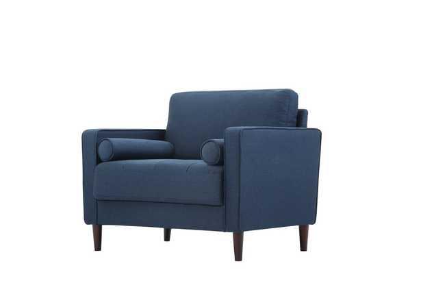 Garren Armchair, dark navy blue - Wayfair