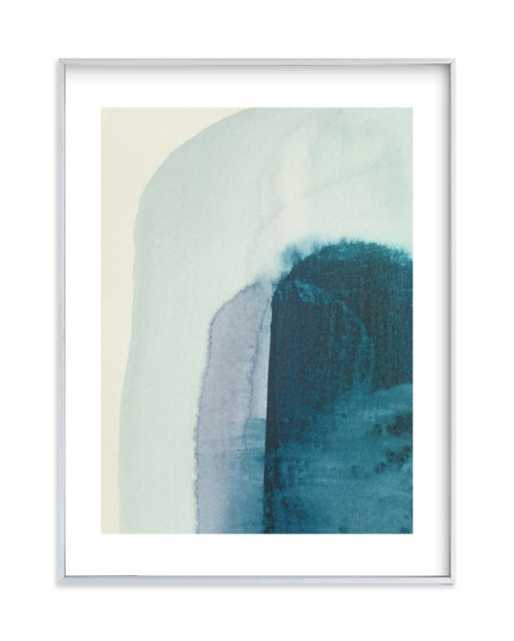"""Passage 2 - 18"""" x 24"""" - Brushed Silver Frame, White Border - Minted"""