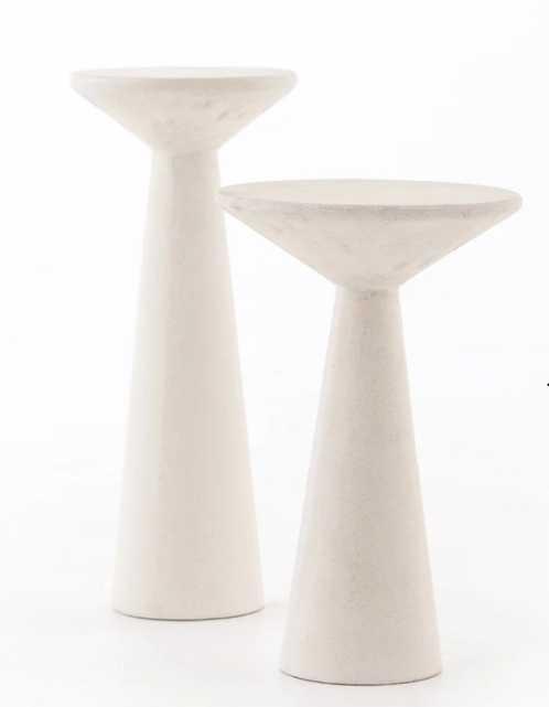 Ravine Concrete Accent Tables, Set Of 2 - Burke Decor