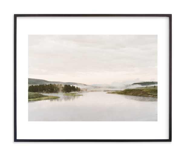"Misty Lake Art Print Matte Black Frame 30""x24"" - Minted"