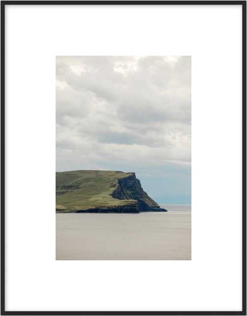 """The coast of Skye 10""""x14""""- Matte Black Frame- with matte - Artfully Walls"""
