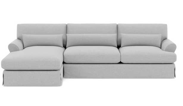 MAXWELL SLIPCOVERED Slipcovered Sectional Sofa with Left Chaise - Interior Define