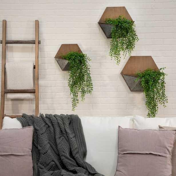 Dominga 3- Piece Iron Wall Planter Set - Wayfair