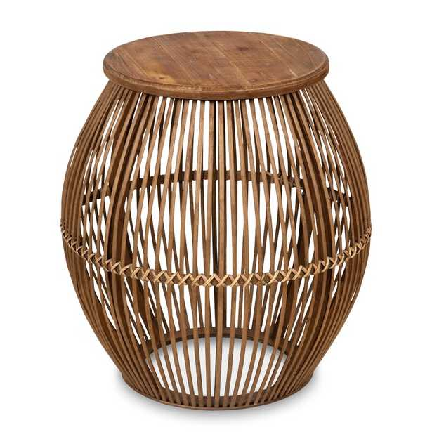 Pacheco Round Bamboo End Table - Wayfair