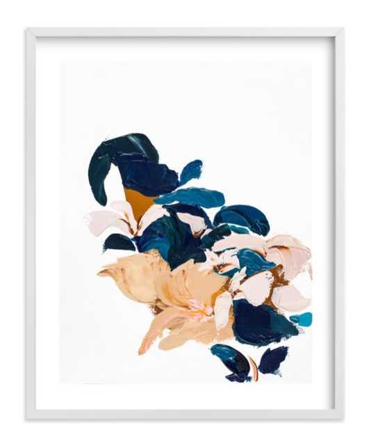 "abstract botanical - 16"" x 20"", white frame, white border - Minted"