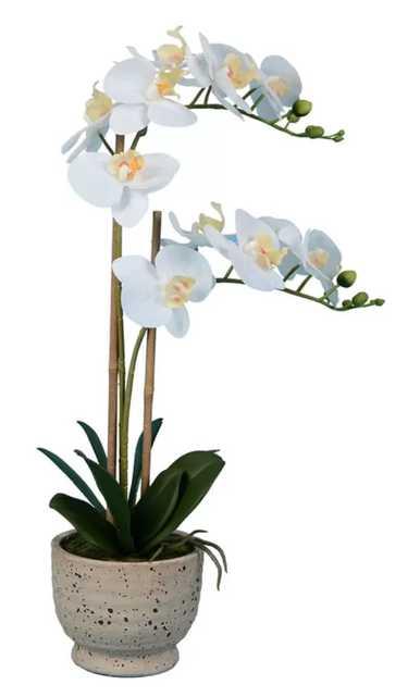 Artificial Phalaenopsis Floral Arrangement in Pot - Wayfair