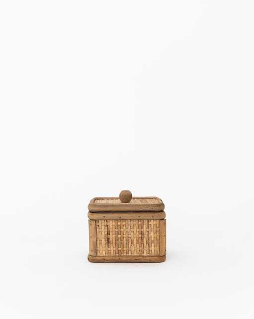 WOVEN CANE TUSCAN BOX - Square - McGee & Co.