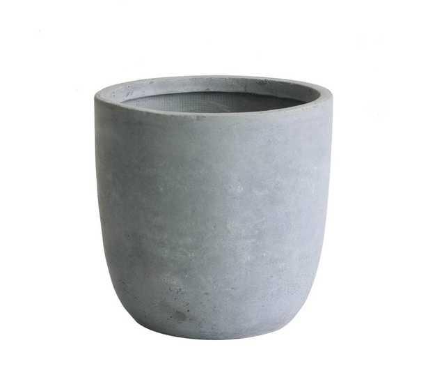 Modern Concrete Pot Planter - Wayfair
