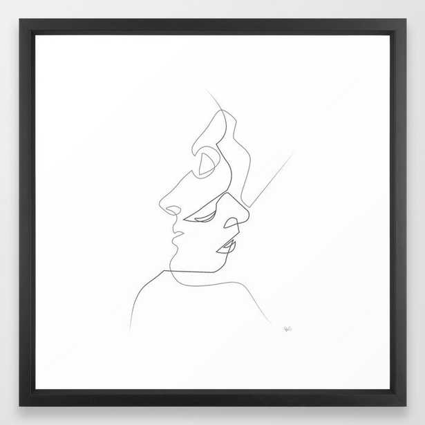 Close on white Framed Art Print by Quibe - Society6