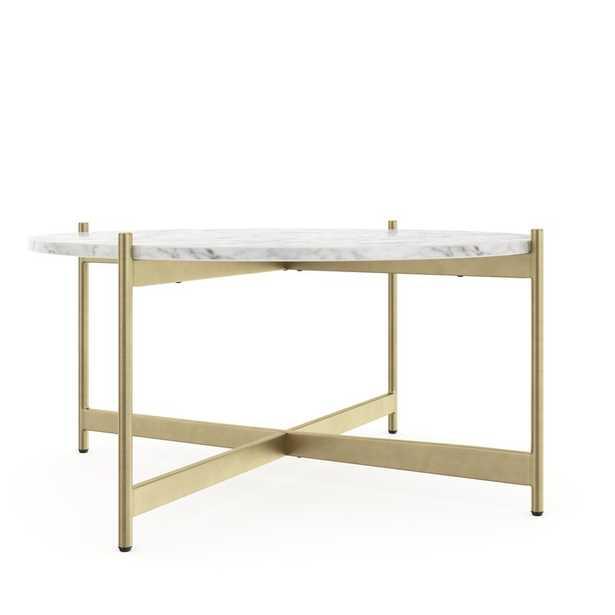 Belynda Cross Legs Coffee Table - Wayfair