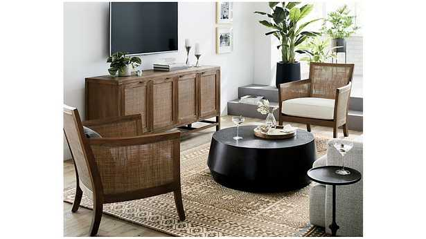Udan Round Coffee Table - Crate and Barrel